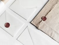 Envelopes and seal stamp