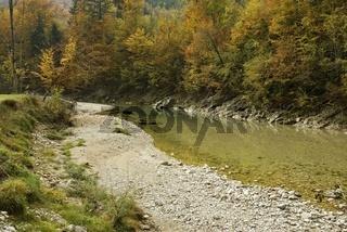 Herbstliche Stimmung am Reichramingbach im Nationalpark Kalkalpen
