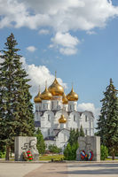 Orthodox cathedral and war memorial in Yaroslavl. Russia