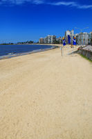 Pocitos beach along the bank of the Rio de la Plata in Montevide