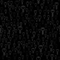 Line Silhouettes of Key Seamless Pattern