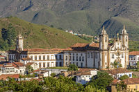 View of downtown of Ouro Preto city