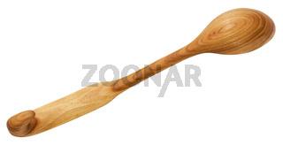back side of wooden spoon carved from Alder wood
