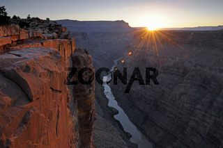 Sonnenaufgang Grand Canyon North Rim, Nordrand, Toroweap Point,
