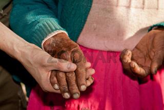 Hände einer Frau / Hands of old Woman