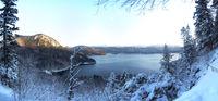 Walchensee-Panorama im Winter