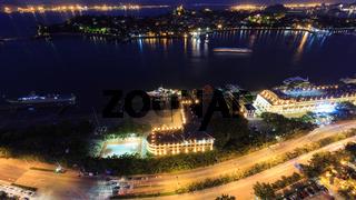 Xiamen Gulangyu Island And Lujiang Road