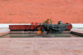 Eternal fire in memory of victims in the world war - Kremlin - Moscow Russia
