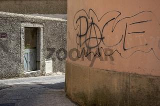 Pace Graffito in Bolotana, Sardinien