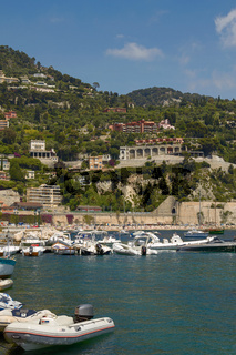 People Enjoying Luxury Bay and Resort of Cote d'Azur in Villefranche France