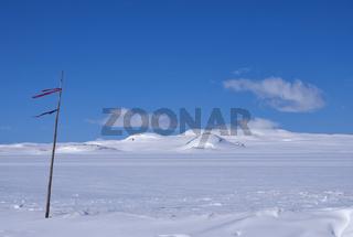 Snow covered Hardangervidda
