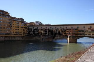 Florenz, Ponte Vecchio, Blick von Osten