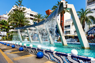 Fountain in the city of Torrevieja. Costa Blanca. Spain