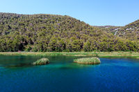 National Park Krka and River Krka near Town of Skradin, Croatia