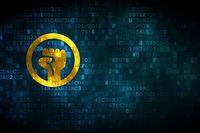 Political concept: Uprising on digital background