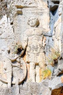 Darstellung im Felsen antike Stadt Myra