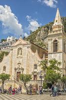 Church of San Giuseppe In The Main Square Taormina  Italy