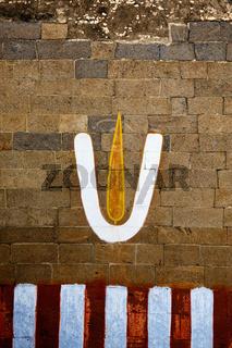 Vishnu symbol on wall