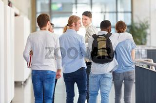 Gruppe Schüler oder Studenten