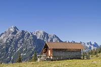 Grasbergalm im Karwendelgebirge
