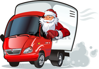 Cartoon NewYears truck
