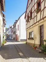 Gasse in der Altstadt von Münstermaifeld in Rheinland-Pfalz