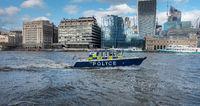 Polizeiboot auf der Themse