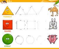 basic geometric shapes drawing worksheet
