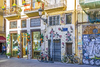 Colourful Shops, Old Town, Valencia, Spain