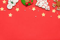 Gingerbreads Christmas Background