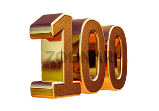 Gold 3d 100th Anniversary Sign