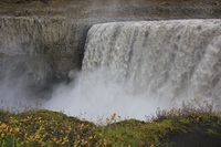 Dettifoss, most powerful waterfall in Europe. Iceland.