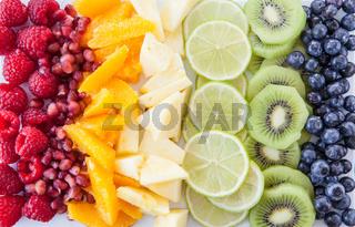 Frisches Obst Regenbogen