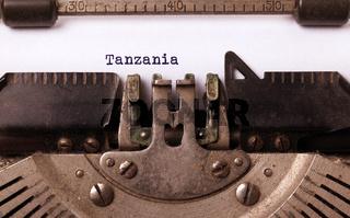 Old typewriter - Tanzania
