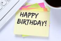 Happy Birthday alles Gute zum Geburtstag Arbeit Arbeitsplatz Business Schreibtisch