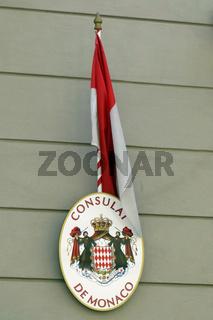 flagge von Monaco, Consulat