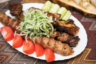 Grilled shish kebab