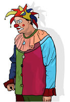 Clown with Colorful Hat