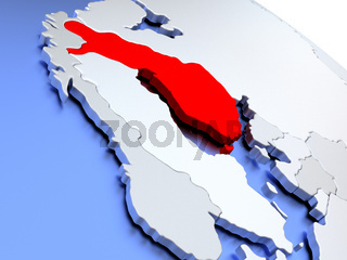 Finland on world map