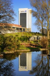 Hamburg Planten un Blomen mit Hotel