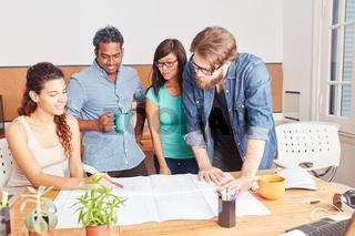 Startup Team in einem Meeting