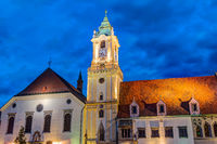 Old town hall at night Bratislava