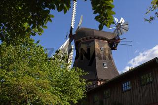 Windmühle, Bargum, Nordfriesland, Deutschland