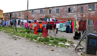 Unterwegs in den Slums von Kapstadt, Südafrika, on township tour in Cape Town, South Africa