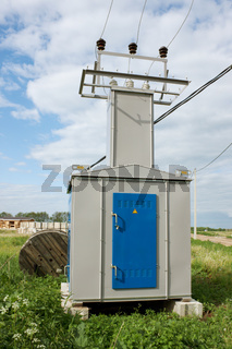 Transformer substation in countryside