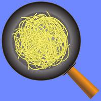 Boiled Floury Product Spaghetti