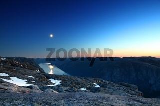 Lysefjord bei Nacht