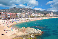 Badeort lloret de Mar an der Costa Brava