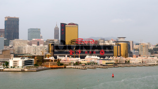 The panorama of urban with skyscrapers in Macau city