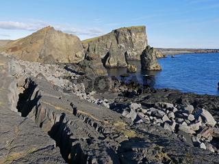 Küste auf der Halbinsel Reykjanes in Island